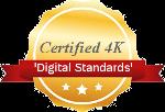 certified digital UHD 4K logo