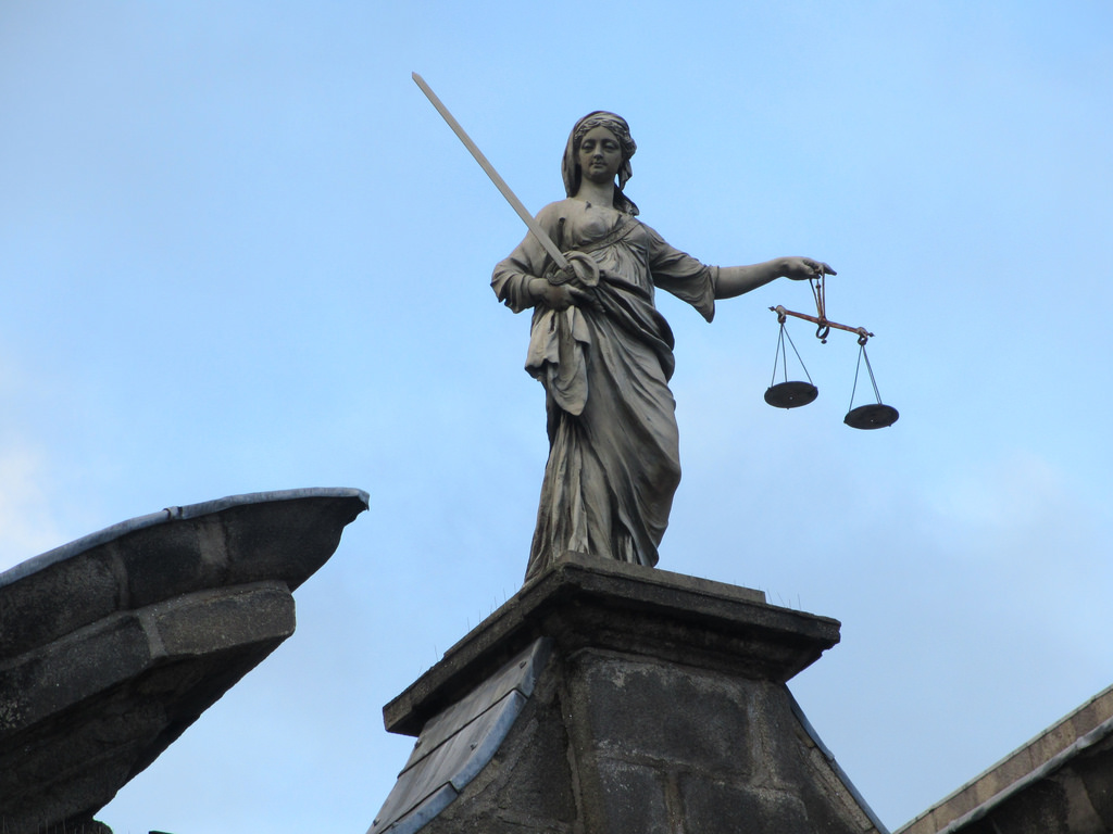 justice is blind statue