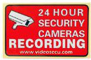24 hour security recording sign